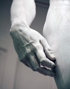 You've Got to Hand it to Him . Michelangelo was the man.