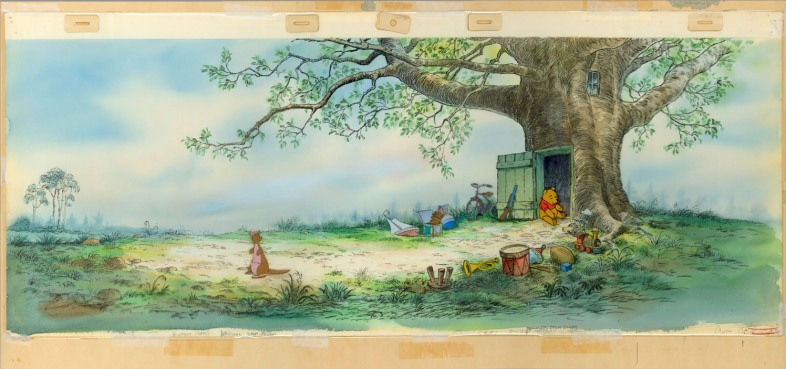 Adapted for film by various studios - E.L. Shephard's original illustration for Winnie the Pooh