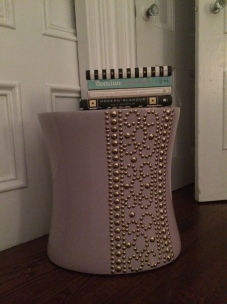 a table in lavendar