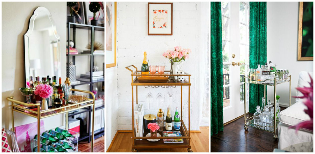 apartment style bar carts the beauty of bar cart - How To Style A Bar Cart