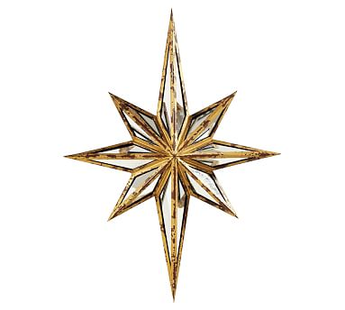 pottery barn decorative star mirror