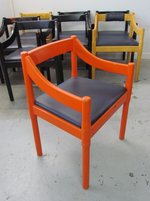 Chairs - Red with black seat