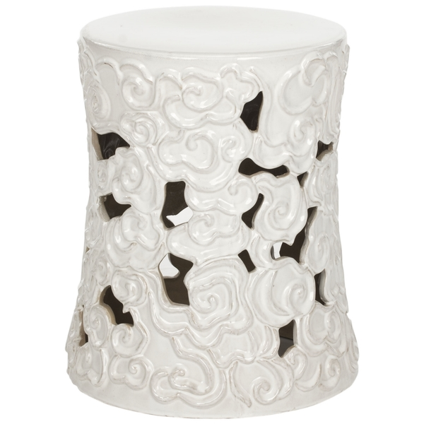White Clouds Garden Stool
