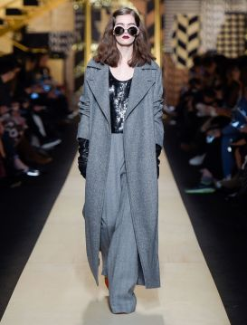 Max Mara . Gray Coat . $2,850.