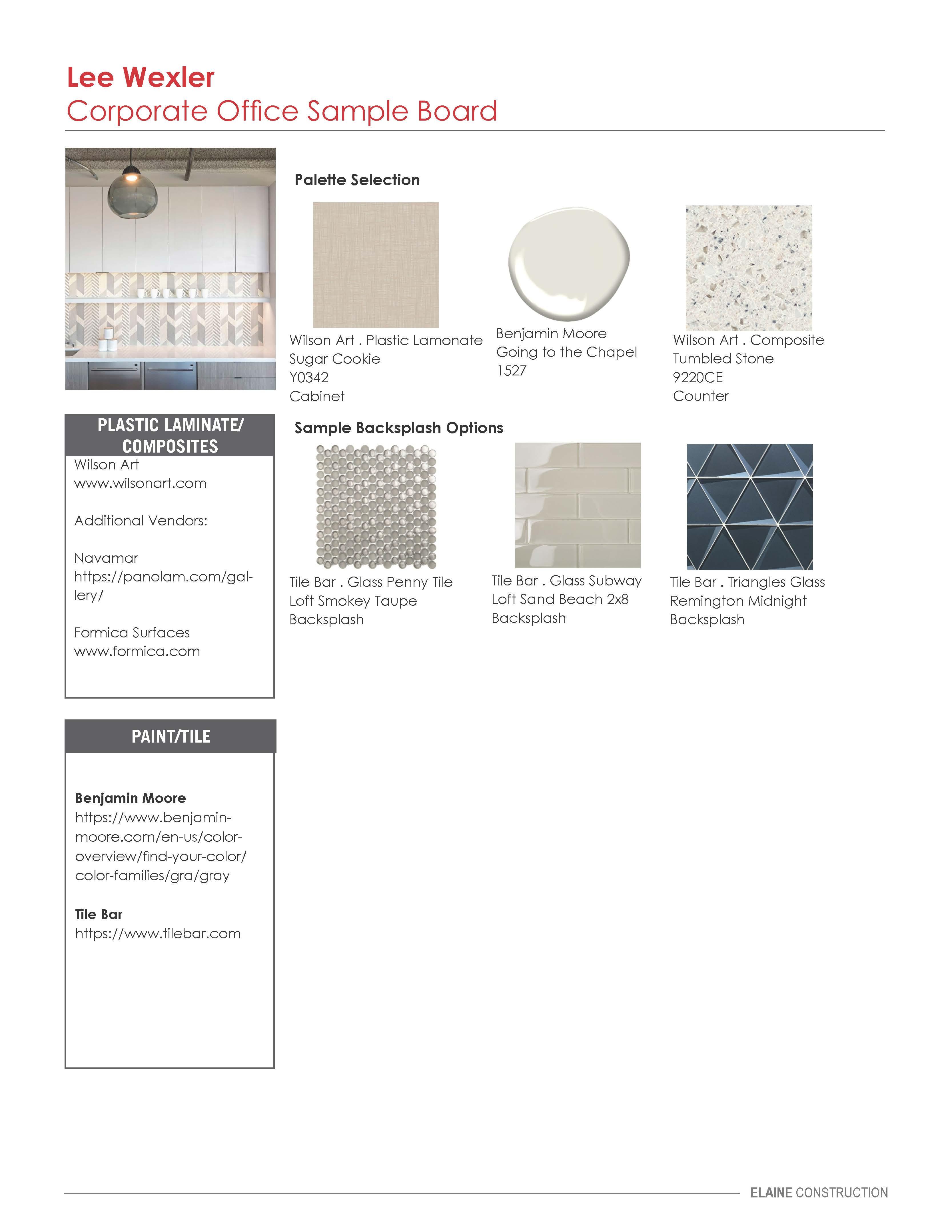 Wexler Office Sample Board v2